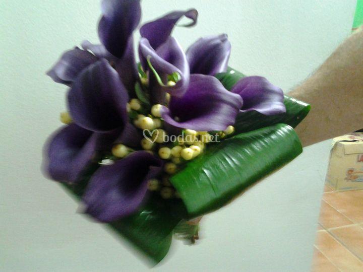Bouquet de callas lilas