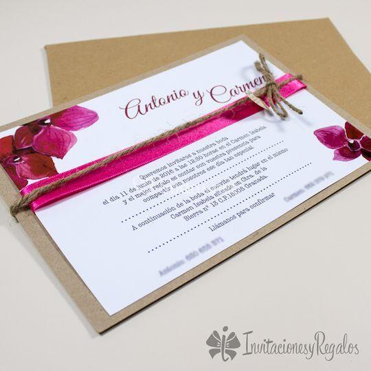 Invitaciones de boda artesanal