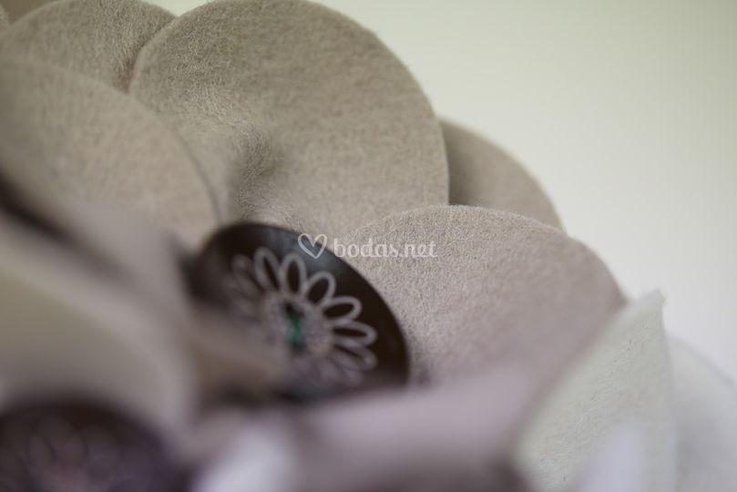 Ramo de novia, fieltro de lana
