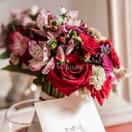 Ramo de novia flor variada