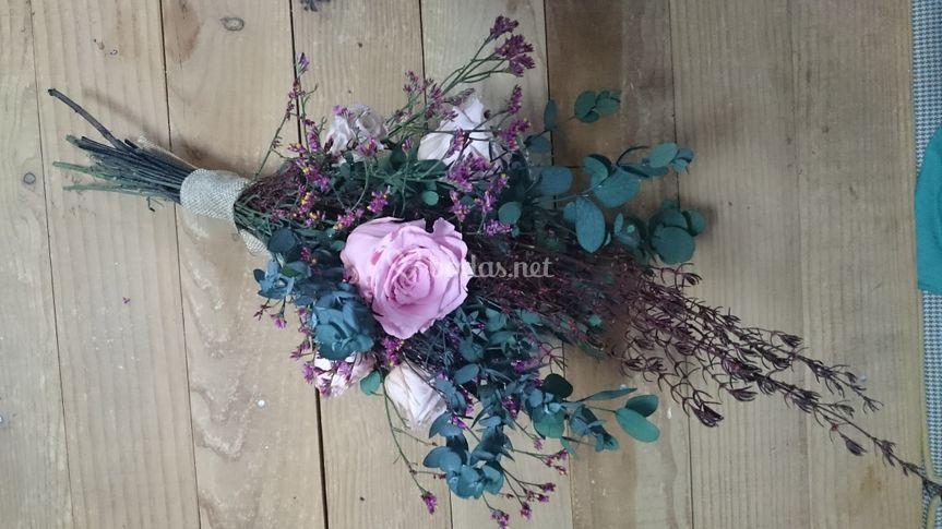 Ramo de flor preservada