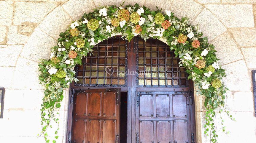 Arco de hortensias
