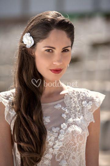 Vestido de novia con flores - 2014