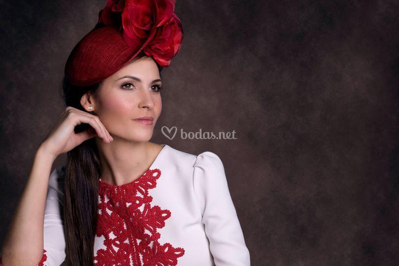 Vestido bordados guipur