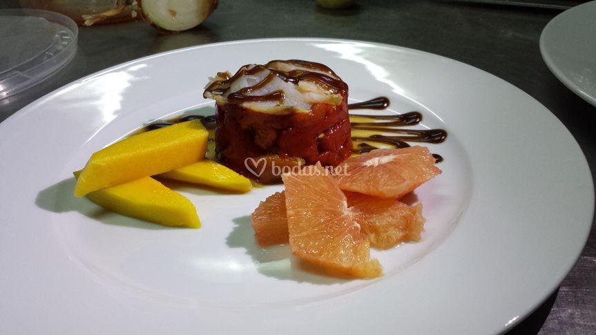 Ensalada de pomelo y mango