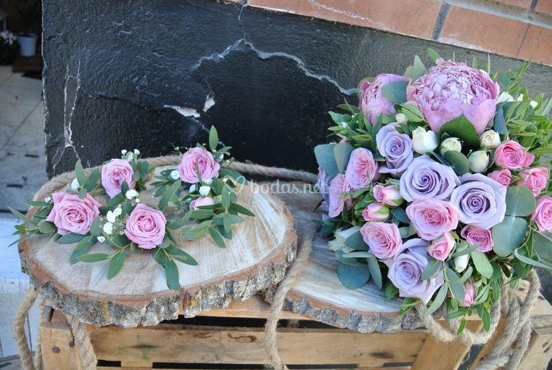 Bouquet con boutonniere