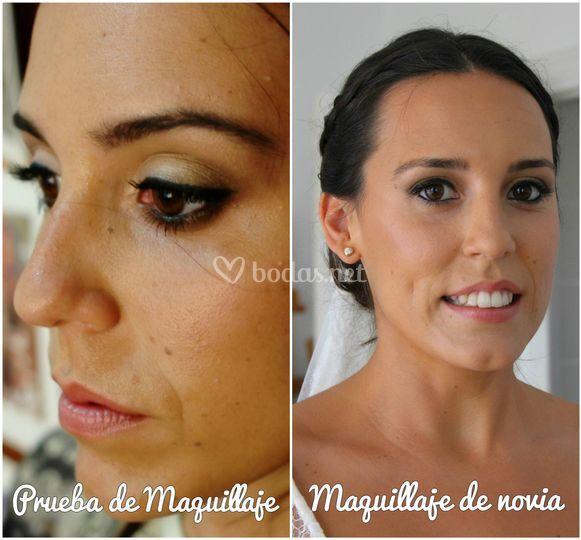 Prueba y maquillaje