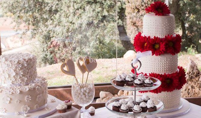 Mesa de dulces para boda de bake fun fotos for Fotos de mesas de bodas