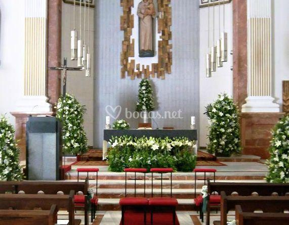 Decoracion de la iglesia