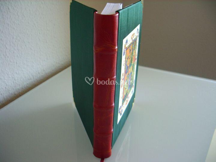 Libro bradel media piel lomo