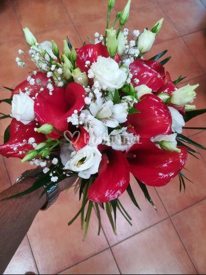Bouquet de estoma y calas