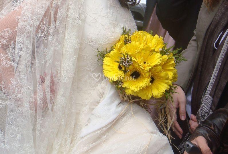 Ramo de novia de gerberas