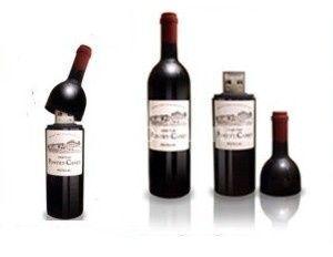 Memorias USB botella de vino
