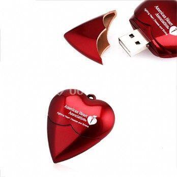 Memorias USB corazón