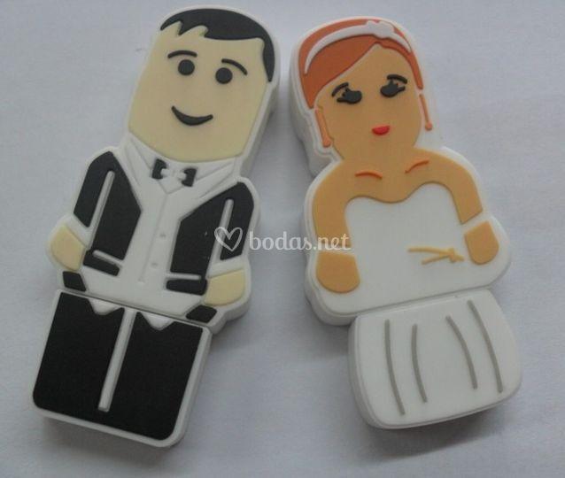 Memorias USB novia y novio