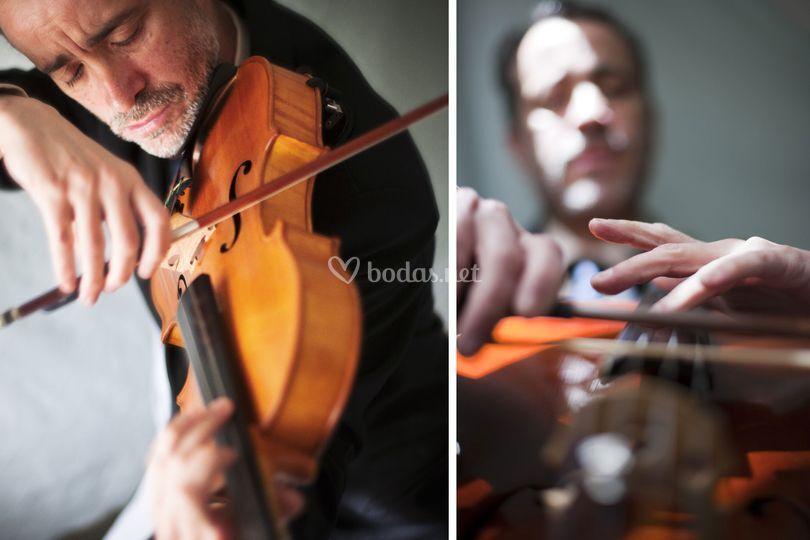 Joaquín-violín y chelo