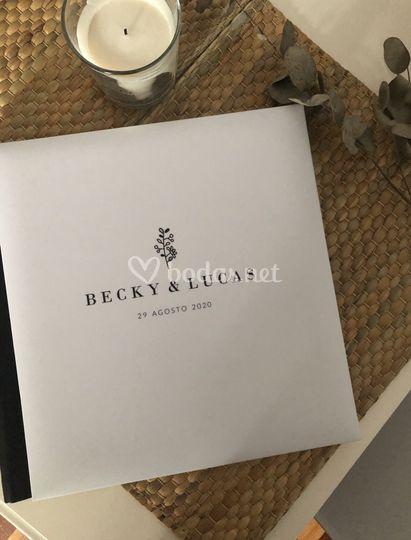 Álbum de firmas personalizado