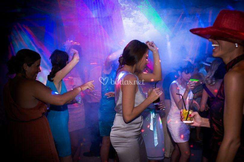 Iluminación de discoteca
