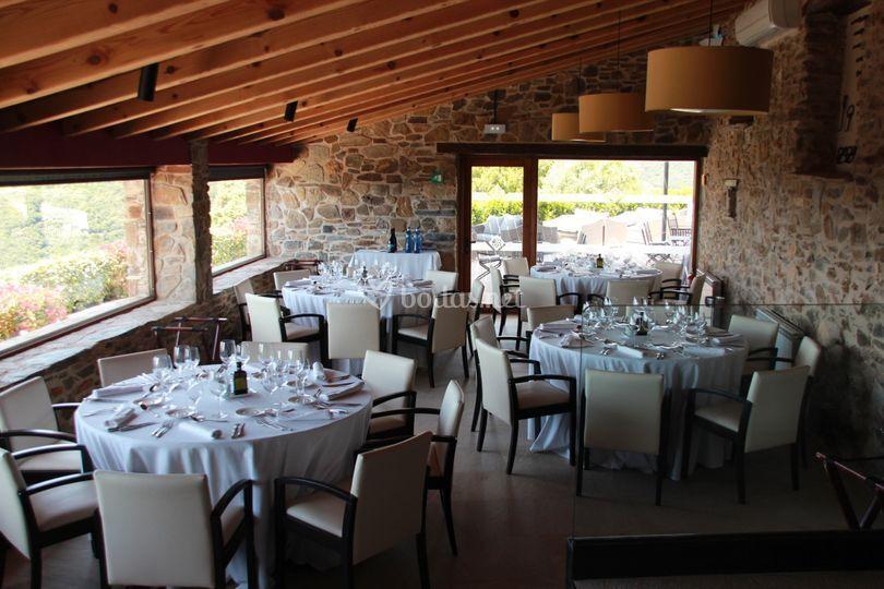 Restaurante mesas redondas