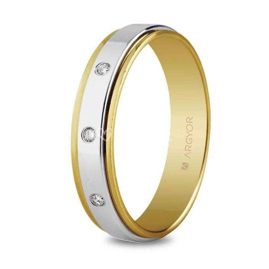 Alianza bicolor oro 55523158