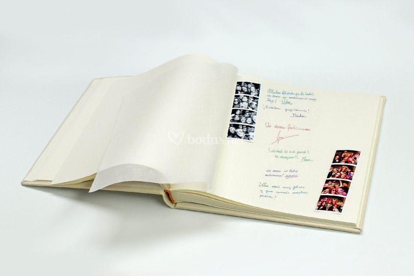 Álbum con firmas y dedicatoria