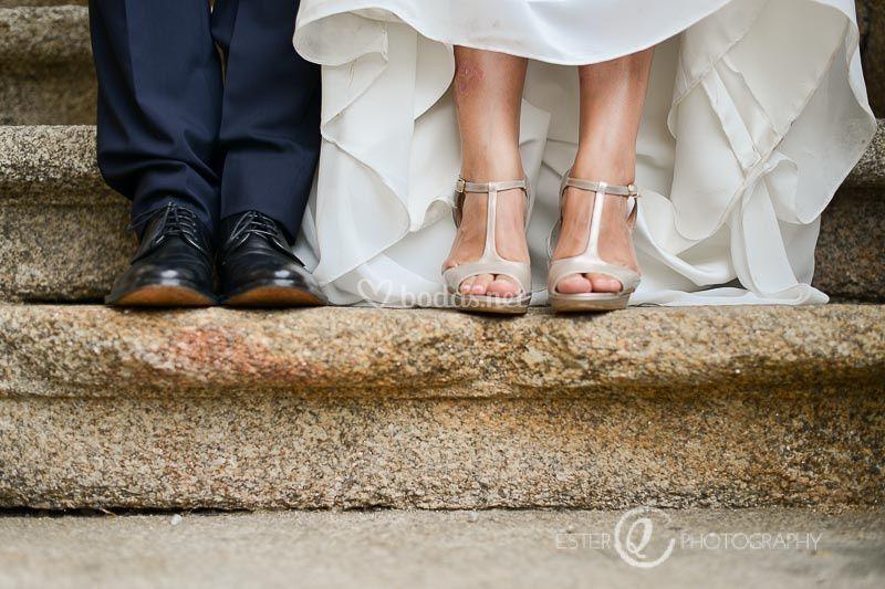 Zapatos de novia y novio