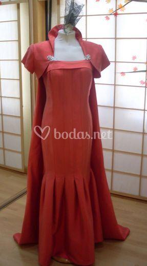 Vestido madrina rojo