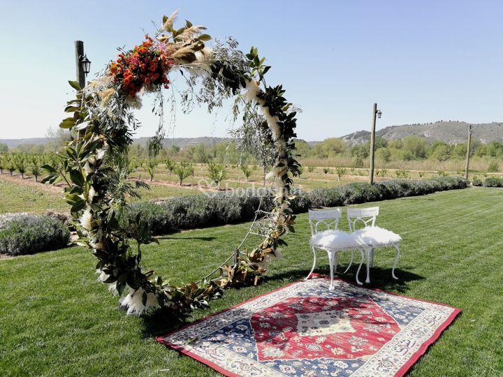 Ceremonia con nuestro aro