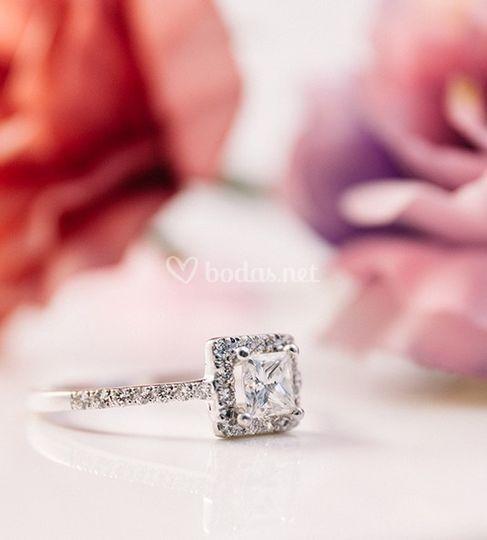 Solitario de diamantes áfrica