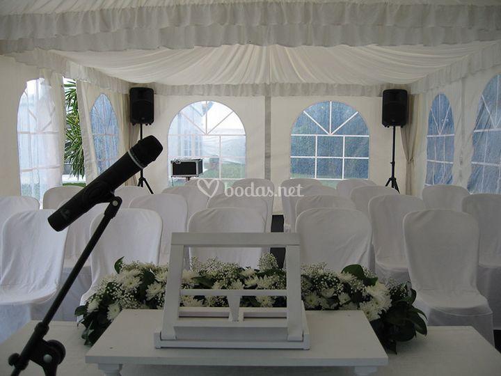 Megafonía bodas