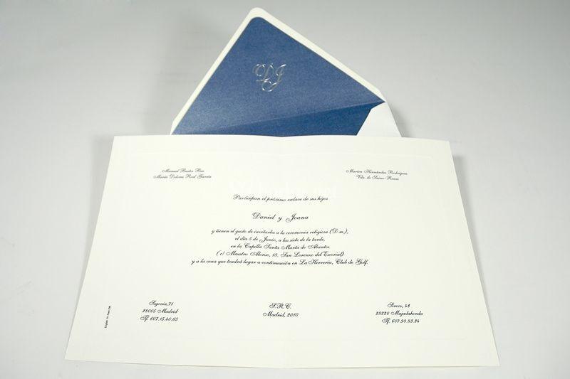 Una de nuestras invitaciones