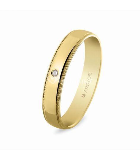 Oro 18 quilates con diamante