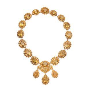 Collar de oro amarillo con cítrinos