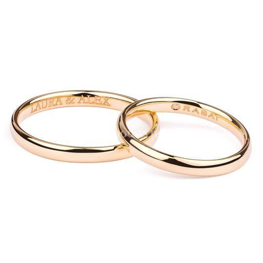 Alianzas de boda grabadas