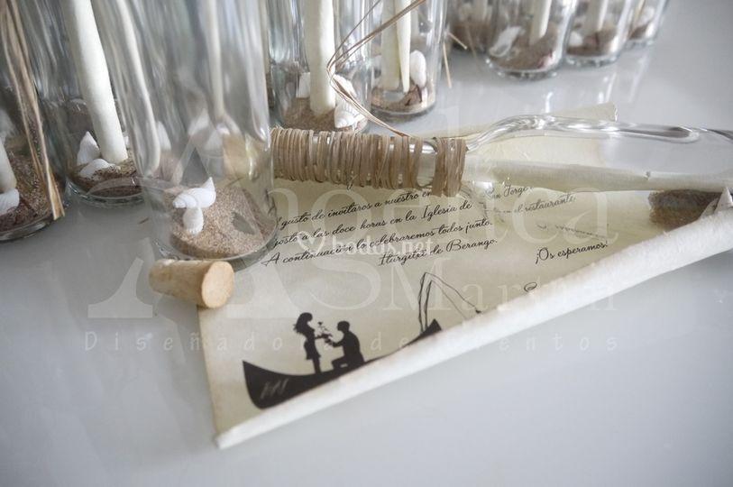 Invitación de boda - botella