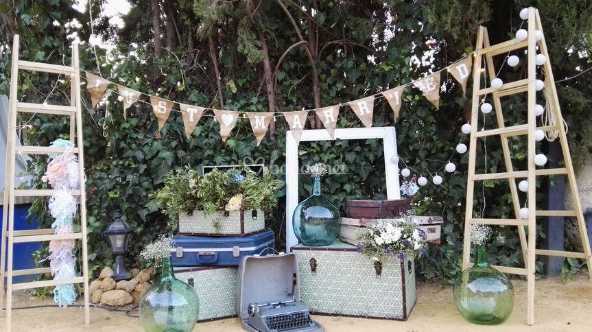 Decoración Vintage de Catering Rabanal