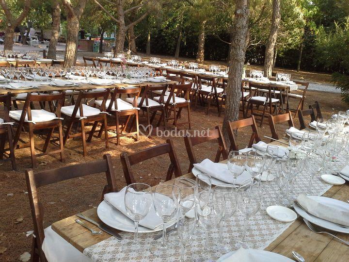 Banquete en el bosque