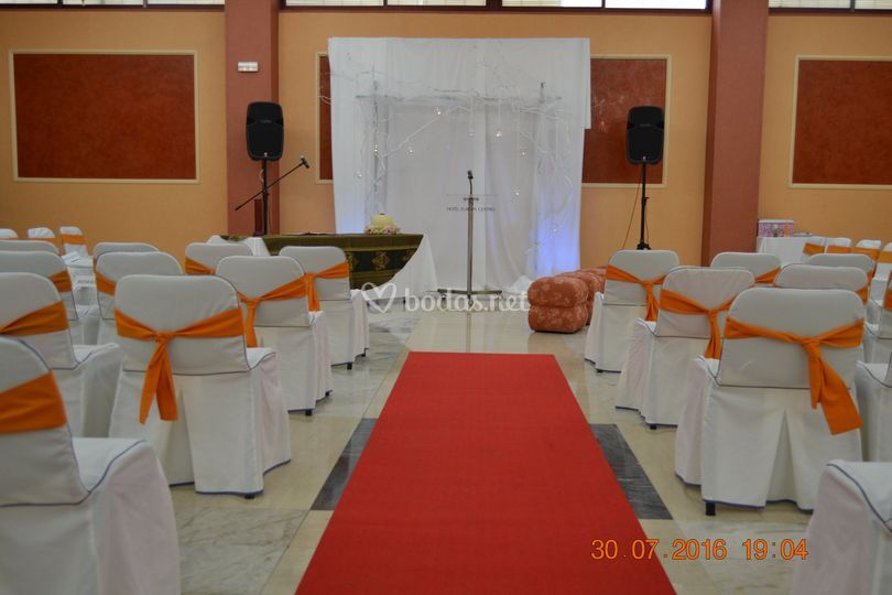 Ceremonia en interior