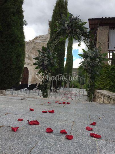 Zona de la boda civil