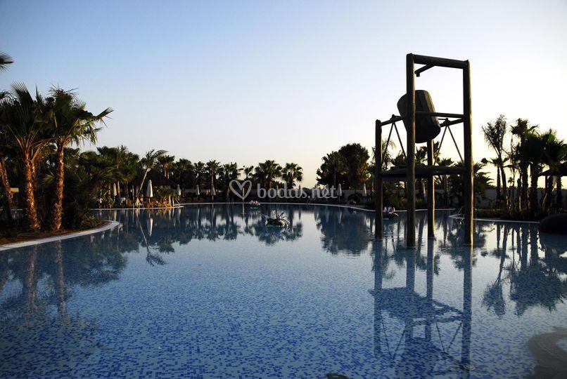 Detalles de la piscina