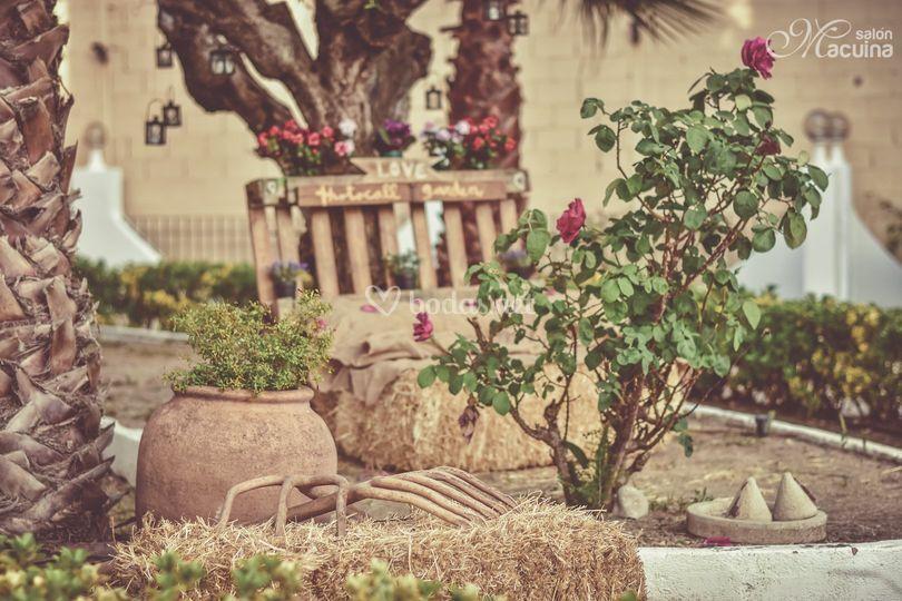 Photocall garden