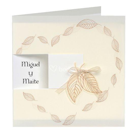Invitación hojas