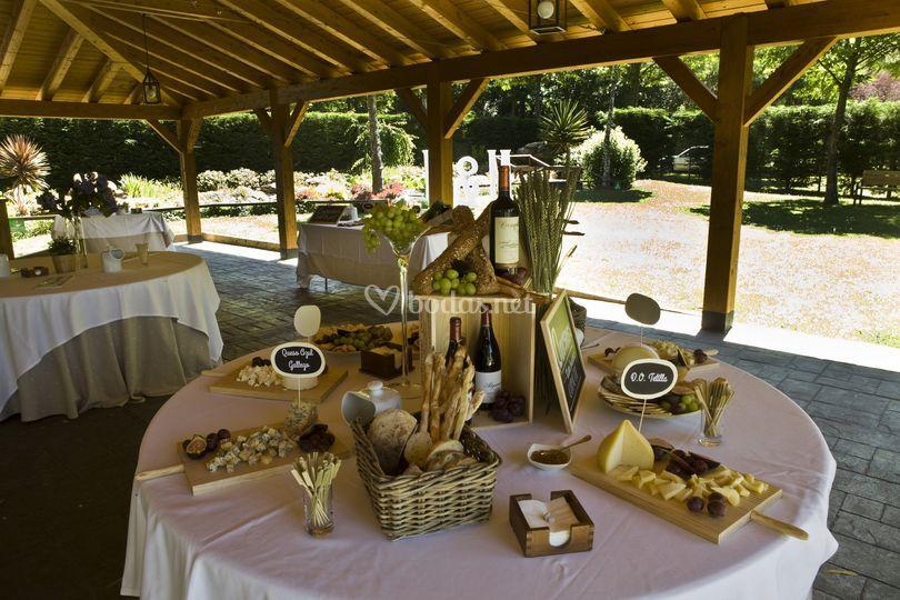 Mesa de quesos gallegos