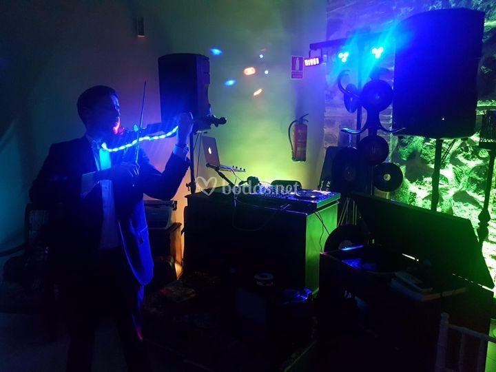 Show de violín eléctrico