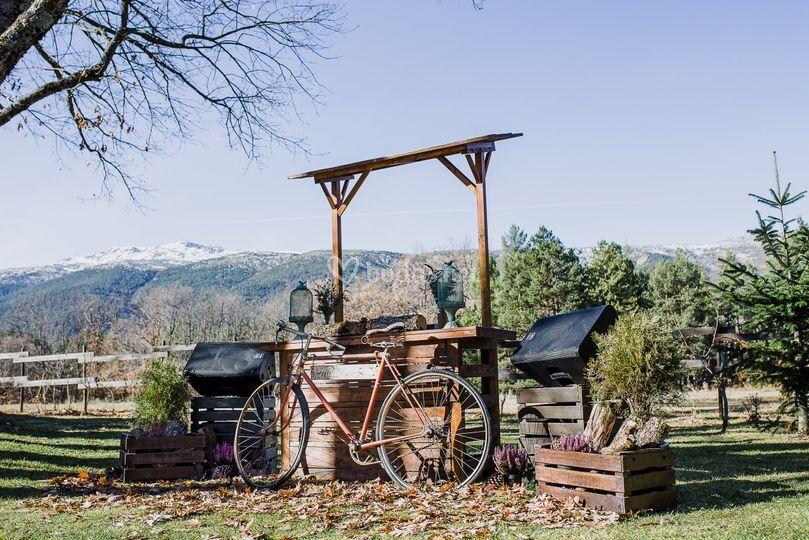 Cabina dj campo