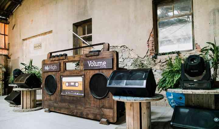 Cabina dj radiocassette