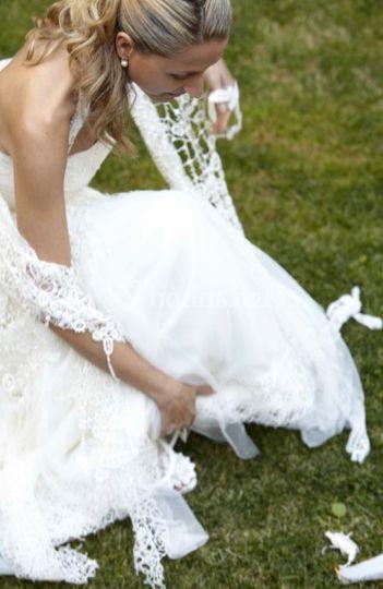 Una novia muy elegante