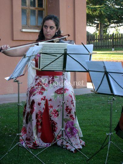 Ana en boda de V. de la Cañada