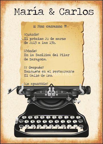 Letra de typewritter