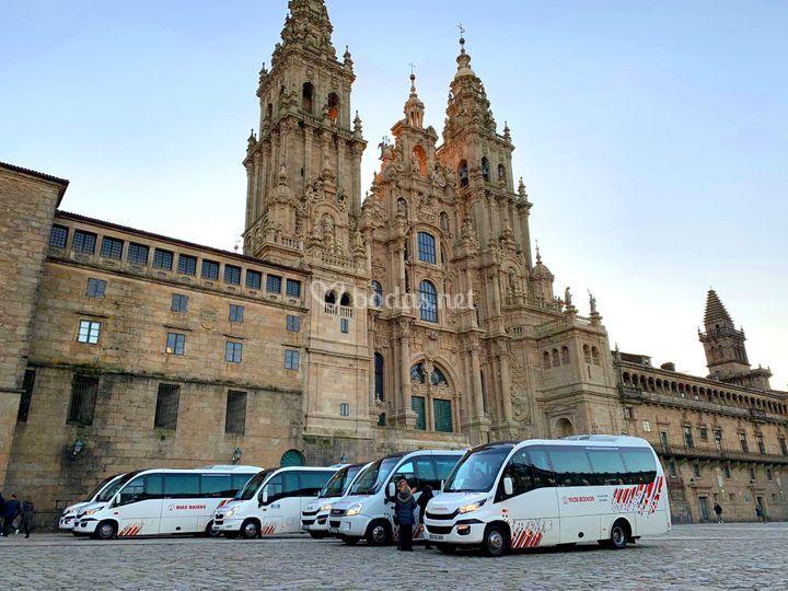 Microbuses en Santiago Compostela